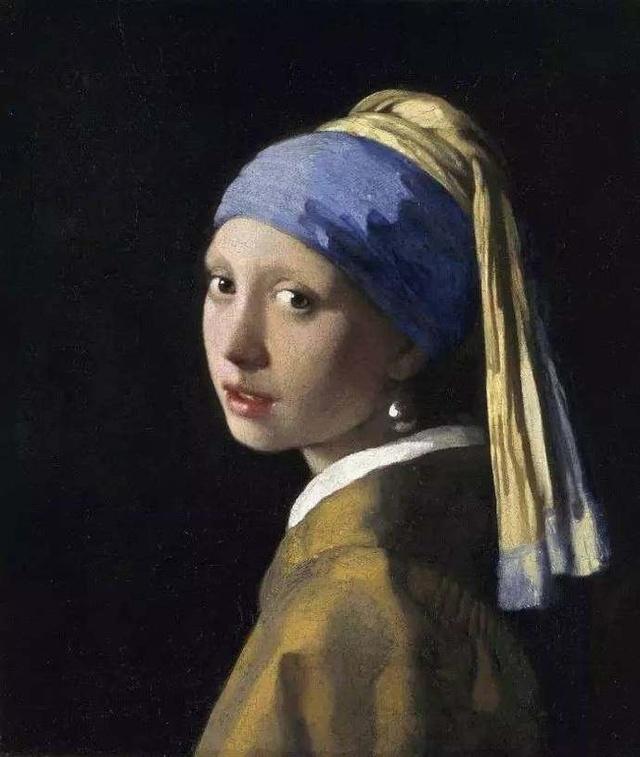 《戴珍珠耳环的少女》维米尔