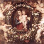 花圈中的圣母玛丽亚鲁本斯