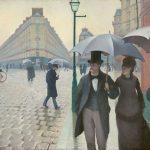 雨天的巴黎街道